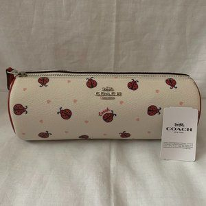 COACH Ladybug Makeup Barrel Cosmetic Case